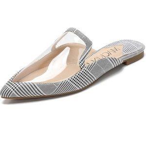 Shoes - Plaid clear mule